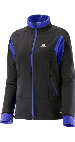 Salomon W's Momentum Softshell Jacket Black/Phlox Violet